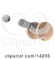 Cannon Firing A Cannon Ball Clipart Illustration