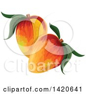 Clipart Of Mangoes Royalty Free Vector Illustration by Vector Tradition SM