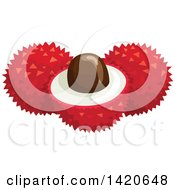 Clipart Of Lychee Fruit Royalty Free Vector Illustration