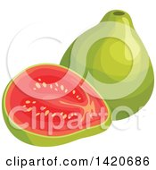 Clipart Of Guavas Royalty Free Vector Illustration