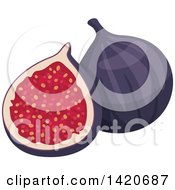 Clipart Of Figs Royalty Free Vector Illustration