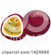 Clipart Of Passion Fruits Royalty Free Vector Illustration