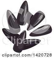 Clipart Of Sunflower Seeds Royalty Free Vector Illustration by Vector Tradition SM