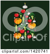 Clipart Of A Cutting Board Made Of Vegetables Royalty Free Vector Illustration by Seamartini Graphics