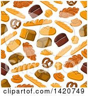 Seamless Pattern Background Of Baked Goods