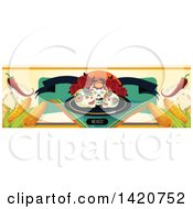 Clipart Of A Mexican Food Menu Header Or Border Royalty Free Vector Illustration