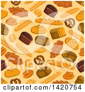 Clipart Of A Seamless Pattern Background Of Baked Goods Royalty Free Vector Illustration by Seamartini Graphics
