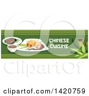 Clipart Of A Chinese Food Menu Header Or Border Royalty Free Vector Illustration by Seamartini Graphics