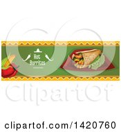 Clipart Of A BLANK Food Menu Header Or Border Royalty Free Vector Illustration