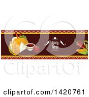 Clipart Of A BLANK Food Menu Header Or Border Royalty Free Vector Illustration by Seamartini Graphics