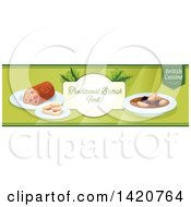 Clipart Of A British Food Menu Header Or Border Royalty Free Vector Illustration by Vector Tradition SM