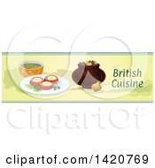 Clipart Of A British Food Menu Header Or Border Royalty Free Vector Illustration by Seamartini Graphics