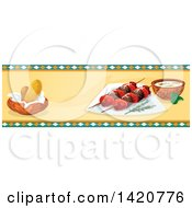 Clipart Of A Turkish Food Menu Header Or Border Royalty Free Vector Illustration by Vector Tradition SM