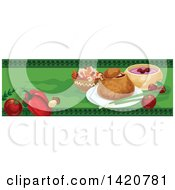 Clipart Of A Hungarian Food Menu Header Or Border Royalty Free Vector Illustration