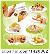 Clipart Of Eastern European Cuisine Royalty Free Vector Illustration