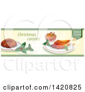 Clipart Of A British Food Menu Header Or Border Royalty Free Vector Illustration by Vector Tradition SM