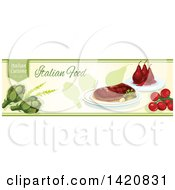 Italian Food Menu Header Or Border