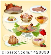 Clipart Of Hungarian Cuisine Royalty Free Vector Illustration