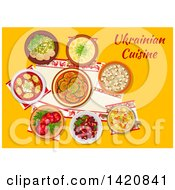 Poster, Art Print Of Table Set With Ukrainian Cuisine