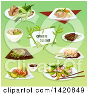 Clipart Of Chinese Cuisine Royalty Free Vector Illustration by Seamartini Graphics