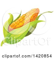 Clipart Of A Fresh Ear Of Corn Royalty Free Vector Illustration by Vector Tradition SM