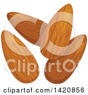 Clipart Of Almonds Royalty Free Vector Illustration by Vector Tradition SM