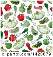 Seamless Pattern Background Of Vegetables