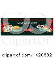Clipart Of A Mexican Food Menu Header Or Border Royalty Free Vector Illustration by Seamartini Graphics