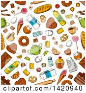 Seamless Pattern Background Of Food