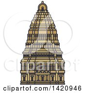 Clipart Of A India Landmark Virupaksha Temple Royalty Free Vector Illustration by Vector Tradition SM