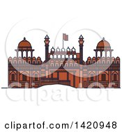 Clipart Of A India Landmark Red Fort Royalty Free Vector Illustration by Vector Tradition SM