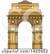 Clipart Of A India Landmark India Gate Royalty Free Vector Illustration by Vector Tradition SM