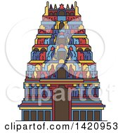 Clipart Of A India Landmark Hindu Meenakshi Amman Temple Royalty Free Vector Illustration by Vector Tradition SM
