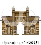 Clipart Of A India Landmark Gateway Of India Royalty Free Vector Illustration by Vector Tradition SM