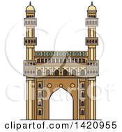Clipart Of A India Landmark Mosque Charminar Royalty Free Vector Illustration by Vector Tradition SM