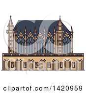 Clipart Of A French Landmark Chapel Sainte Chapelle Royalty Free Vector Illustration by Vector Tradition SM