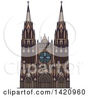 Clipart Of A French Landmark Bourges Cathedral Royalty Free Vector Illustration by Vector Tradition SM
