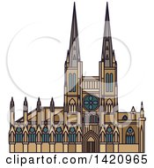 Clipart Of A French Landmark Church Of Saint Michel Royalty Free Vector Illustration by Vector Tradition SM