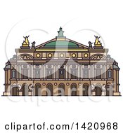 Clipart Of A French Landmark Palais Garnier Royalty Free Vector Illustration by Vector Tradition SM