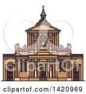 Clipart Of A French Landmark Chapel Of Sainte Ursule Of Sorbonne University Royalty Free Vector Illustration by Vector Tradition SM