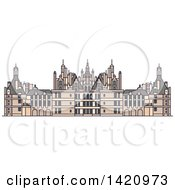 Clipart Of A French Landmark Chateau De Chambord Royalty Free Vector Illustration by Vector Tradition SM