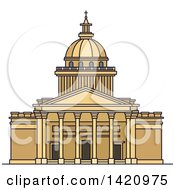 Clipart Of A French Landmark St Peters Basilica Royalty Free Vector Illustration by Vector Tradition SM