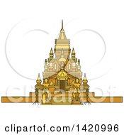 Clipart Of A Thailand Landmark Laem Sor Royalty Free Vector Illustration