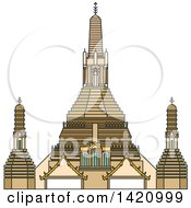 Clipart Of A Thailand Landmark Arun Royalty Free Vector Illustration