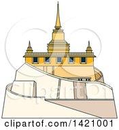 Clipart Of A Thailand Landmark Saket Royalty Free Vector Illustration