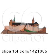 Clipart Of A Norway Landmark Akershus Fortress Royalty Free Vector Illustration by Vector Tradition SM