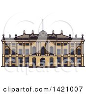 Clipart Of A Finland Landmark Amalienborg Palace Royalty Free Vector Illustration