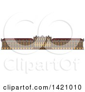 Clipart Of A Austria Landmark Schonbrunn Palace Royalty Free Vector Illustration