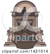 Clipart Of A Belgium Landmark Manneken Pis Royalty Free Vector Illustration by Vector Tradition SM