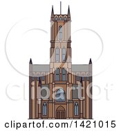 Clipart Of A Belgium Landmark St Bavo Cathedral Royalty Free Vector Illustration by Vector Tradition SM
